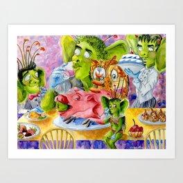 Jumblie Creature Feast Art Print