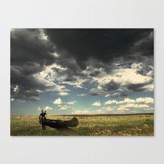 Lost At Field Canvas Print