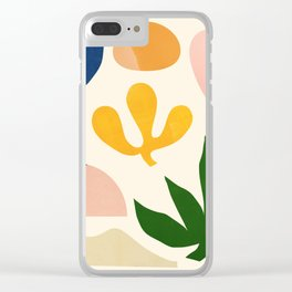 Abstraction_Floral_001 Clear iPhone Case