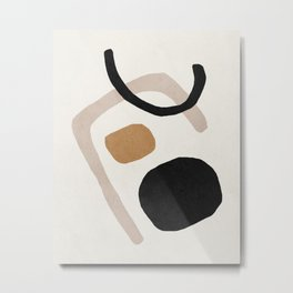 Mid century abstract shapes Metal Print