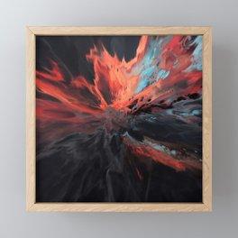 Flash Bang - Abstract Art by Fluid Nature Framed Mini Art Print