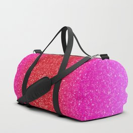 Red/Pink Glitter Gradient Duffle Bag