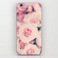 Pastel pink roses iPhone & iPod Skin