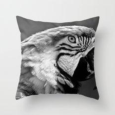 Black & White Parrot  Throw Pillow