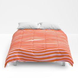 electric zebra stripes Comforters