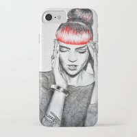 grimes iPhone & iPod Cases featuring Grimes by Eric Magnussen