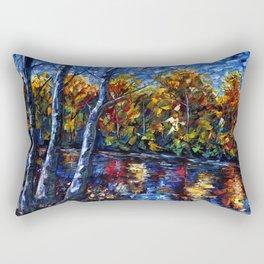 The River Song (Palette Knife Rectangular Pillow