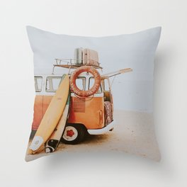lets surf viii Throw Pillow