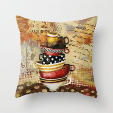 Coffee Cups Divine Throw Pillow