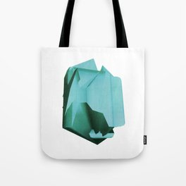 3D turquoise flying object  Tote Bag