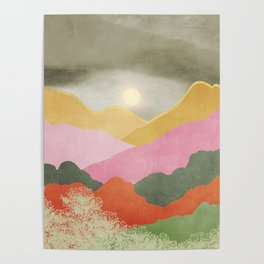 Colorful mountains Poster