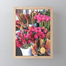 Hawaii Farmers Market Tropical Flowers Framed Mini Art Print