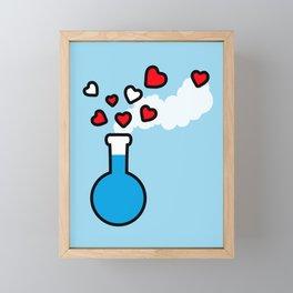 Blue and Red Laboratory Flask Framed Mini Art Print