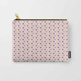 Modern coral lavender blue geometric polka dots pattern Carry-All Pouch