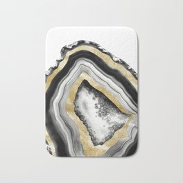 Agate Gold Foil Glam #1 #gem #decor #art #society6 Bath Mat