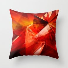 Abstrakt - Feuer der Leidenschaft Throw Pillow