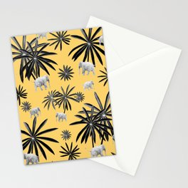 Palm Tree Elephant Jungle Pattern #4 (Kids Collection) #decor #art #society6 Stationery Cards