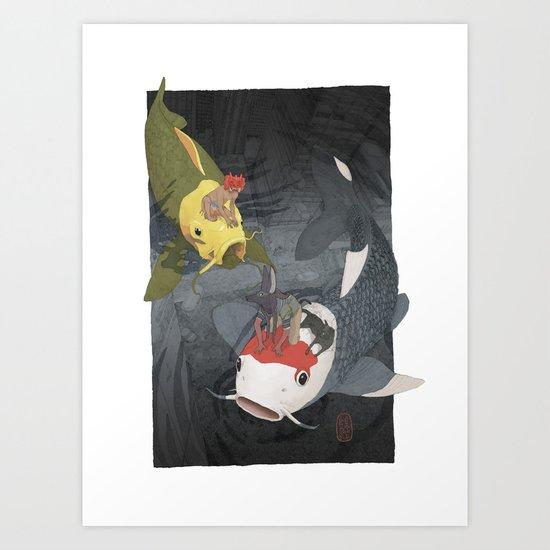 Nishikigoi Art Print