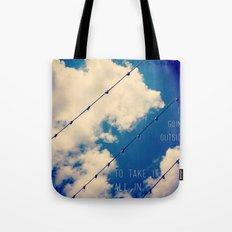 Sky Lights Inspiration Tote Bag