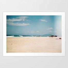 Lighthouse Beach in Summer Art Print