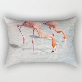 Flock of Flamingos Rectangular Pillow