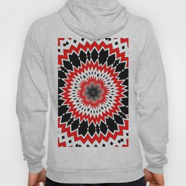 Bizarre Red Black and White Pattern Hoody
