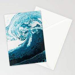 Ocean Wave Acrylic Pour Stationery Cards