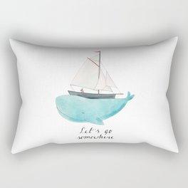 Let´s go somewhere Rectangular Pillow