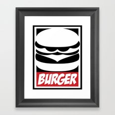 Obey Burger Framed Art Print