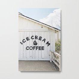 Ice Cream & Coffee Metal Print