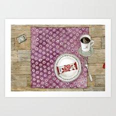 Strawberry KitKat Art Print