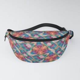 harlequin abstract colorful background Fanny Pack