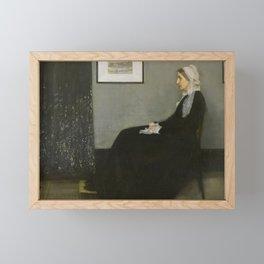 Whistler's Mother Framed Mini Art Print