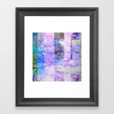 Glitched Tree Canopy Framed Art Print