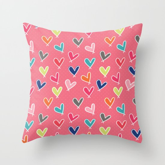 Blow Me One Last Kiss - Pink Throw Pillow