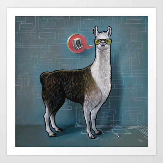 OK Llama Art Print