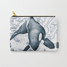 Orca Ancient Map Carry-All Pouch