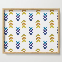Blue and Yellow Arrowheads Serving Tray
