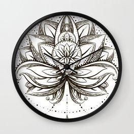 ornamental Lotus Wall Clock
