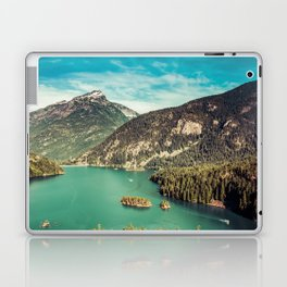 Lake Diablo - Blue and Green Water and Trees Laptop & iPad Skin