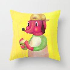 my kind of burger Throw Pillow