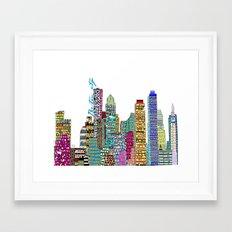 Boston city  Framed Art Print