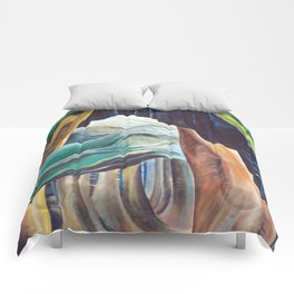 Emily Carr Forest British Columbia Painting Comforters