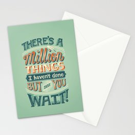 Just You Wait Stationery Cards