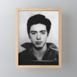 Al Pacino Mug Shot 1961 Black And Blueish Framed Mini Art Print