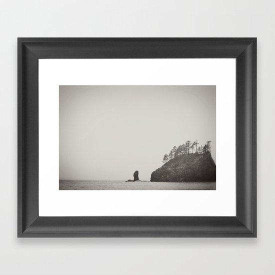 Beach Black and White Framed Art Print