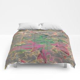 Block Floral-Gray Comforters