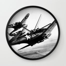 Vintage fighters Wall Clock
