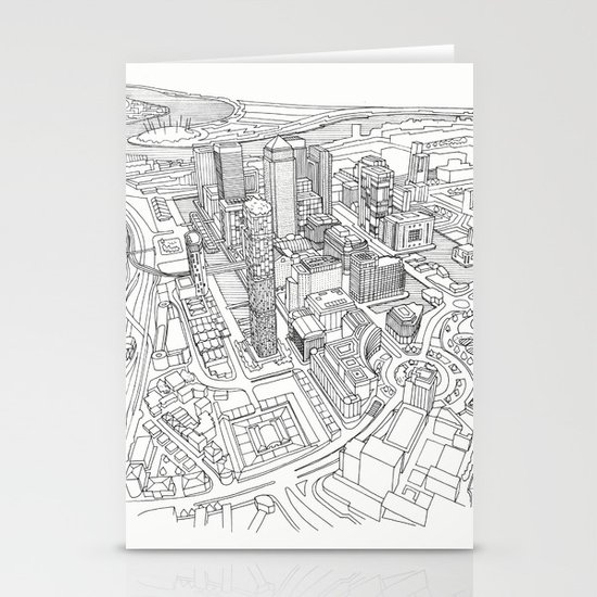 Canary Wharf Stationery Cards