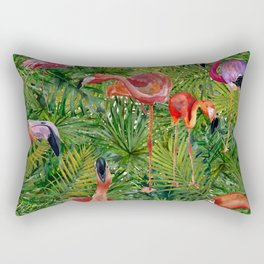 Aloha- Flamingo Bird Jungle Rectangular Pillow